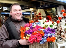 Bury Market selling Flowers